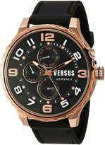 Versus By Versace Men's 'Globe' Quartz Stainless Steel and Rubber Casual Watch, Color: (Model: SBA100015)