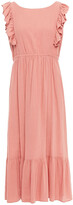 Thumbnail for your product : BA&SH Joyce Ruffled Cotton-gauze Midi Dress