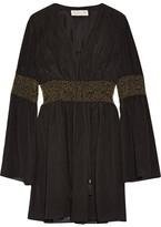 Rachel Zoe Laurel Embellished Crinkled Silk-chiffon Mini Dress - Black