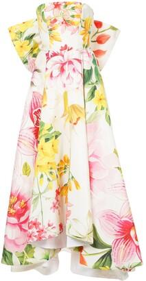 Bambah Lotus Bow gown