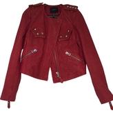Isabel Marant Red Leather Biker jacket