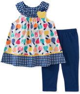 Kids Headquarters 2-Pc. Fruit-Print Tunic & Capri Pants Set