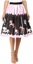 Unique Vintage Scene Full Swing Skirt