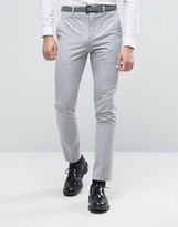 Selected Super Skinny Suit Pants In Pale Gray