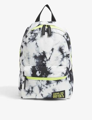 Diesel Kids tie-dye print nylon backpack