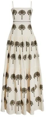 Agua Bendita Palm Print Lima Maxi Dress