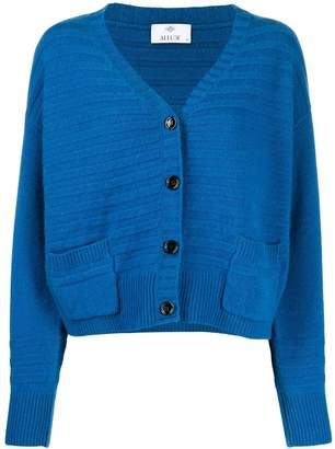 Allude ribbed knitted cardigan