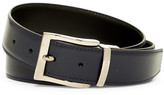 a. testoni Box Calf Leather Reversible Belt