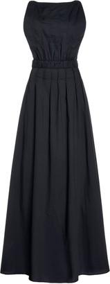 MATIN Shoestring Low Back Dress With Pintucks