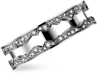 Akillis Capture in Motion 18K White Gold & Diamond Rolling Ring