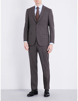 Canali Shadow Check Wool Suit