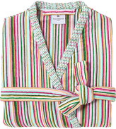 Yves Delorme Rivages Flamant cotton bathrobe