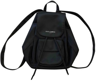 Dolce & Gabbana Black Cloth Backpacks