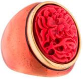 Oscar de la Renta Floral Resin & Enamel Ring