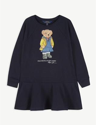 Ralph Lauren Polo Bear-embroidered cotton-blend dress 2-14 years