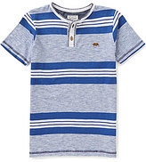 Lucky Brand Big Boys 8-20 Jetty Striped Henley Tee
