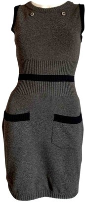 Chanel Grey Wool Dresses