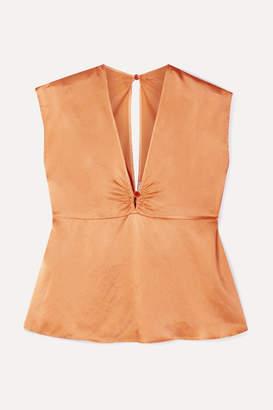 Forte Forte Hammered Silk-satin Top - Orange