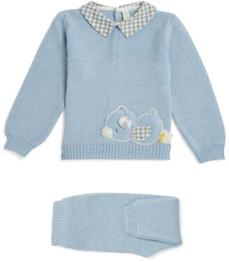 Bimbalo Knitted Duck Sweater and Leggings Set (1-24 Months)