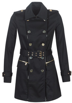 GUESS CHRISTINA TRENCH women's Trench Coat in Black