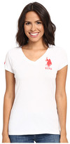 U.S. Polo Assn. Lace V-Neck T-Shirt