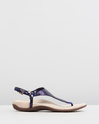 Vionic Women's Navy Flat Sandals - Kirra Backstrap Sandals - Size One Size, 6 at The Iconic