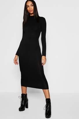 boohoo Tall High Neck Bodycon Midi Dress