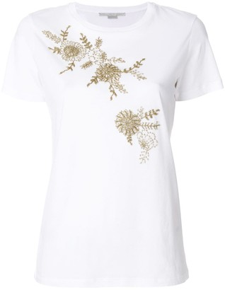 Stella McCartney beaded floral T-shirt