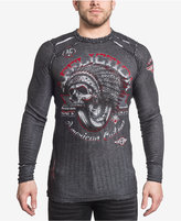 Affliction Men's Thermal Bull Run Graphic-Print Cotton Shirt
