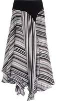 Giambattista Valli Crepe-Trimmed Striped Silk-Satin And Chiffon Skirt