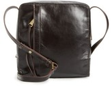 Hobo Lyric Leather Crossbody Bag - Black