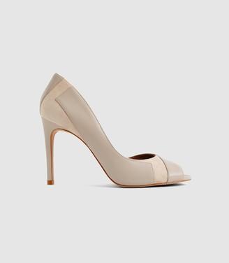 Reiss Pisa - Open Toe Court Shoes in Neutral