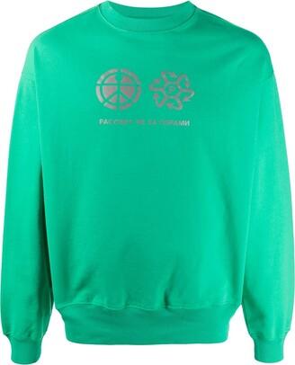 Rassvet Graphic-Print Crew Neck Sweatshirt
