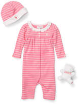 Ralph Lauren Three-Piece Cotton Coverall Set