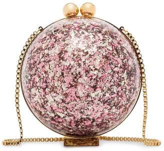 Marzook Sphere glitter ball clutch bag