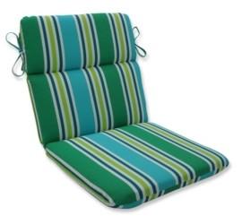 Pillow Perfect Aruba Stripe Rounded Corners Chair Cushion