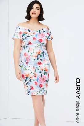 Paper Dolls Rose Floral Print Bodycon Dress