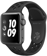 Apple Watch Nike+ 38mm Space Grey Aluminium Case with Nike Sport Band, Anthracite/Black