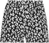 Prism Leopard-print Stretch-jersey Shorts - Black