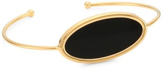 ginette_ny 18K Rose Gold & Black Onyx Ellipse Bangle Bracelet