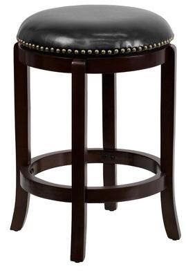 """Red Barrel Studioâ® Dunmire Swivel Counter & Bar Stool Red Barrel StudioA Color: Cappuccino, Seat Height: Counter Stool (24"""" Seat Height)"""