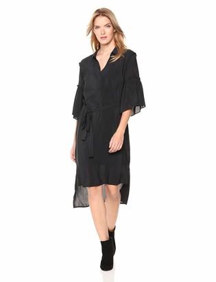 BCBGeneration Women's Shirring Sleeve Shirt Dress