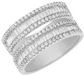 Lord & Taylor Cubic Zirconia and Sterling Silver Ring
