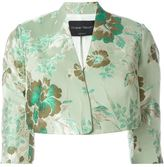 Christian Pellizzari cropped jacquard jacket - women - Cotton/Polyester/Acetate - 38