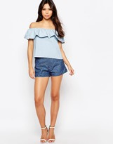 Sugarhill Boutique Denim Shorts With Bow Detail