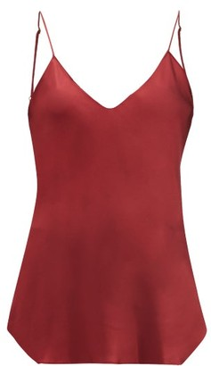 Nili Lotan Isabella Silk Cami Top - Dark Red