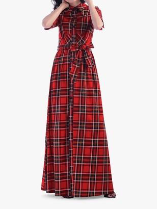 Jolie Moi Maxi Check Shirt Dress