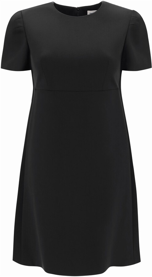 Thumbnail for your product : Alexander McQueen SHORT GABARDINE DRESS 38 Black Wool