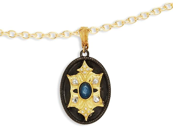 Armenta Women's Old World Sapphire & Yellow Gold Medallion Pendant