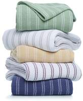 Concierge Collection 100% Cotton Yarn-Dyed Striped Blanket - Twin